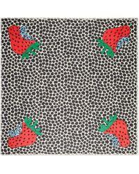Gucci - Tuch mit Strawberry-Print - Lyst