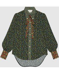 Gucci - Bluse aus Crêpe mit Liberty-Print - Lyst