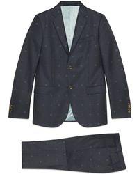 Gucci - Monaco Anzug mit Bienen- und Herz-Wolle - Lyst