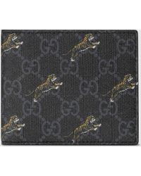 Gucci Portemonnaie mit Tiger-Print - Schwarz