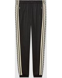 Gucci グッチオーバーサイズ テクニカルジャージー ジョギングパンツ - ブラック