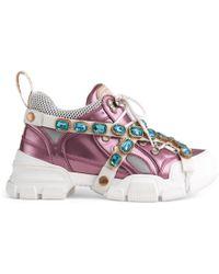 Gucci - Sneaker Flashtrek con cristalli - Lyst