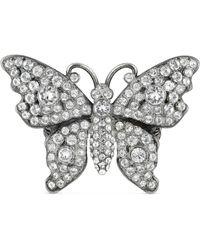 Gucci - Anello a forma di farfalla con cristalli - Lyst