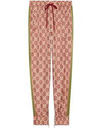 Gucci GG Supreme Print Silk Trousers - Multicolour