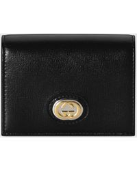 Gucci - Leather Card Case Wallet - Lyst