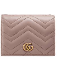 Gucci Kartenetui GG MARMONT - Pink