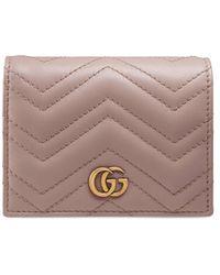 Gucci Portafoglio piccolo GG Marmont - Multicolore