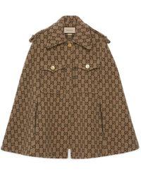Gucci Capa de lana con GG - Neutro