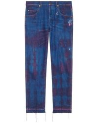Gucci Stonewashed Denim Tapered Pant - Blue