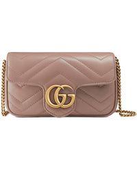 Gucci GG Marmont Matelassé Leather Super Mini Bag - Natural