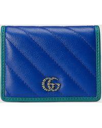 Gucci GG Marmont Brieftasche - Blau