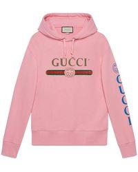 Gucci - Logo Sweatshirt With Dragon - Lyst
