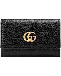 Gucci Schlüsseletui aus Leder - Schwarz