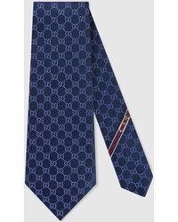 Gucci Krawatte mit gg-muster - Blau