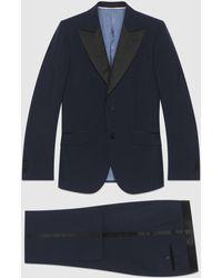 Gucci Smoking aus Mohairwolle mit körpernaher Passform - Blau