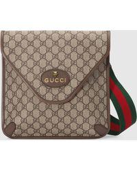 Gucci グッチ公式〔ネオ ヴィンテージ〕GGミディアム メッセンジャーベージュ/エボニー GGスプリームcolor_descriptionGGキャンバス - ナチュラル