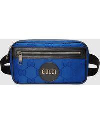 Gucci 【公式】 (グッチ) Off The Grid オンライン限定 ベルトバッグブルー GG Econyl®ブルー