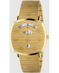 Gucci Grip 35 Mm Uhr Aus Edelstahl Mit Gold-pvd-beschichtung - Mettallic