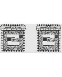 Gucci Square G Manschettenknöpfe aus Silber - Mehrfarbig