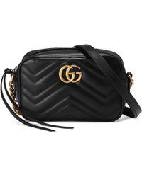 Gucci Mini sac GG Marmont matelassé - Noir