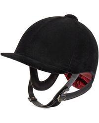 Gucci Helm aus Samt - Schwarz
