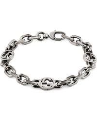 Gucci Armband aus Silber mit GG - Mettallic
