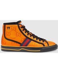 Gucci 【公式】 (グッチ) Off The Grid メンズ ハイトップスニーカーオレンジ GG Econyl®オレンジ