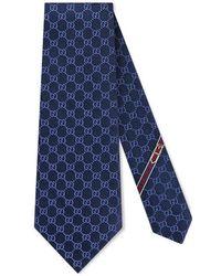 Gucci - Gg Pattern Tie - Lyst