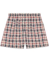 Gucci - Shorts mit Karomuster - Lyst