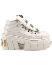 Gucci - White Flashtrek Chunky Leather Low-top Sneakers - Lyst