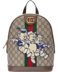 40f81396c49 Gucci - Ophidia GG Backpack With Three Little Pigs - Lyst