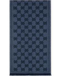 Gucci - グッチGG ウールジャカード スカーフ - Lyst