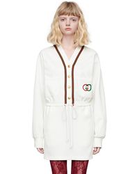 Gucci Vestido de tejido técnico - Blanco