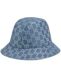 Gucci Sombrero tipo pescador de GG lamé - Azul