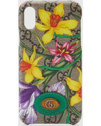 Gucci Ophidia GG iPhone X/XS-Hülle mit Flora-Print - Natur