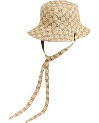 Gucci Reversible Hat In GG Canvas And Nylon - Brown