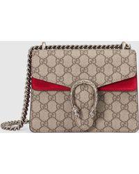 Gucci Dionysus Mini Tasche aus GG Supreme - Natur