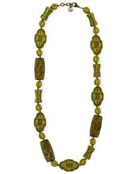 Gucci - Resin Bead Necklace With Flowers And Dragons - Lyst