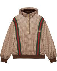 Gucci Mini GG Jersey Hooded Sweatshirt - Brown