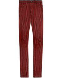 Gucci - Super eng anliegende Hose mit Streifen - Lyst