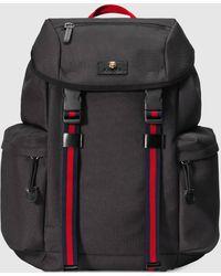 Gucci 'Techpack' Rucksack aus Techno-Canvas - Schwarz