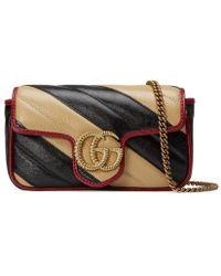 35b12094a Gucci Gg Marmont 2.0 Matelassé Medium Leather East/west Tote Bag ...