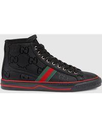 Gucci 【公式】 (グッチ) Off The Grid メンズ ハイトップスニーカーブラック GG Econyl®ブラック