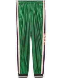 Gucci - Übergroße Jogginghose aus laminiertem Jersey - Lyst