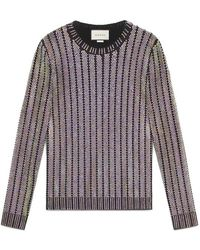 Gucci | Crystal Embroidered Ribbed Knit Top | Lyst