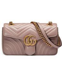 Gucci - GG Marmont Schultertasche aus Matelassé-Leder - Lyst