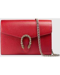 Gucci Dionysus Schultertasche aus Leder - Rot