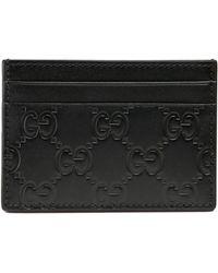 Gucci Portefeuille avec pince à billets signature - Noir