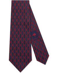 Gucci - GG Chains Silk Tie - Lyst