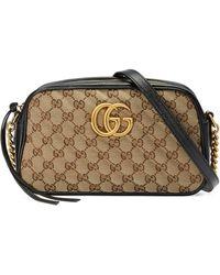Gucci Bolso de hombro GG Marmont pequeño - Neutro